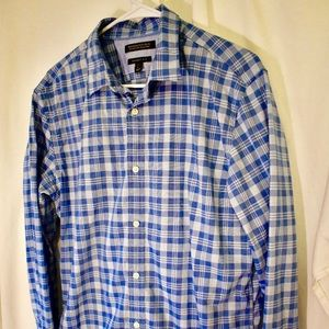 Banana Republic Grant custom wash 078 plaid shirt